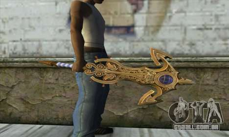 Dragon Nest Warrior Marine Sword para GTA San Andreas segunda tela