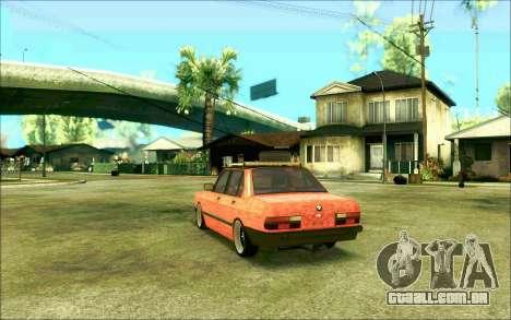 BMW M5 E28 RatStyle para GTA San Andreas esquerda vista