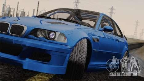 BMW M3 E46 GTR 2005 para GTA San Andreas traseira esquerda vista
