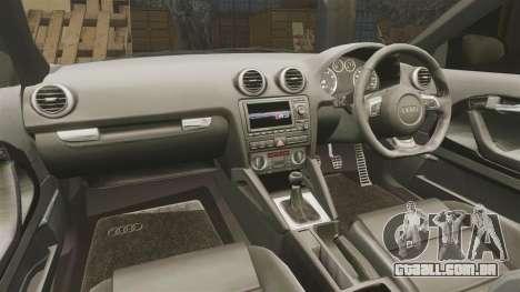 Audi S3 EmreAKIN Edition para GTA 4 vista interior
