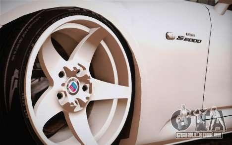 Honda S2000 Edit para GTA San Andreas traseira esquerda vista