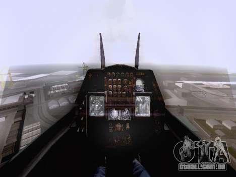 F-16 A para GTA San Andreas traseira esquerda vista