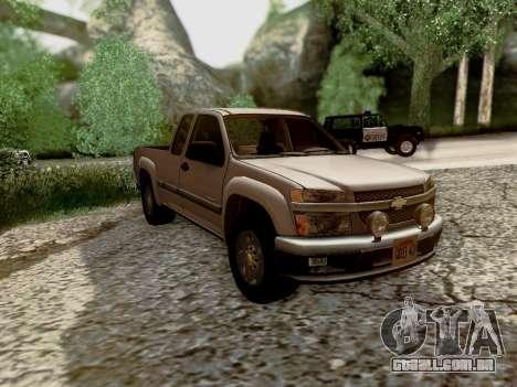 Chevrolet Colorado para GTA San Andreas vista superior