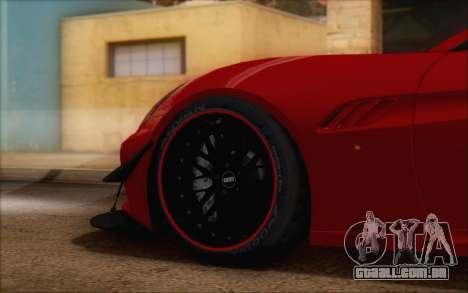 Ferrari California v2 para GTA San Andreas vista direita