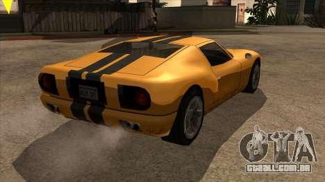 Bullet Restyle para GTA San Andreas traseira esquerda vista