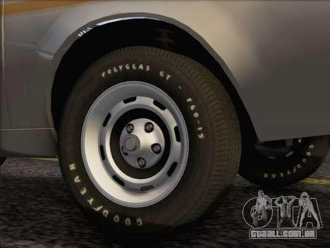 AMC Gremlin X 1973 para GTA San Andreas traseira esquerda vista