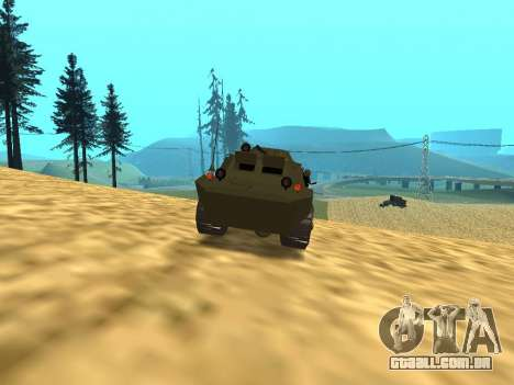Guardas BRDM-2 para vista lateral GTA San Andreas