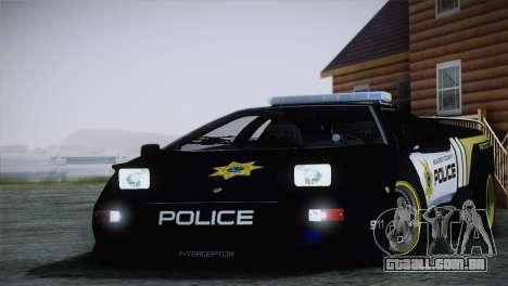 Lamborghini Diablo SV NFS HP Police Car para GTA San Andreas traseira esquerda vista