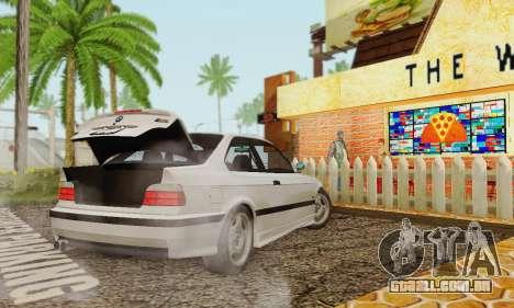 BMW E36 M3 1997 Stock para GTA San Andreas esquerda vista