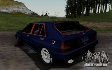 Lancia Delta HF Integrale Evo2 para GTA San Andreas traseira esquerda vista