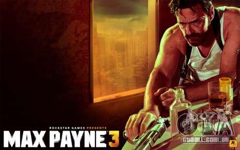 Arranque telas de Max Payne 3 HD para GTA San Andreas terceira tela