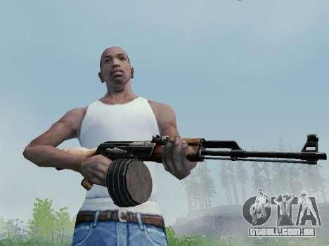 Kalashnikov Metralhadora Leve para GTA San Andreas