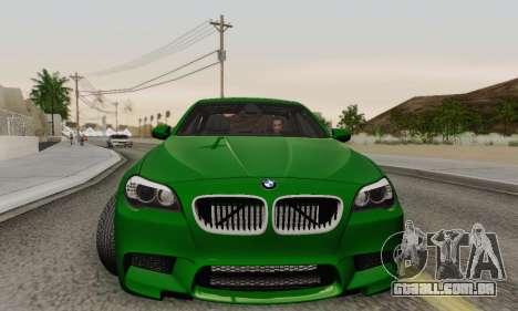 BMW F10 M5 2012 Stock para GTA San Andreas vista inferior