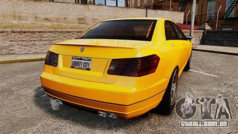 Benefactor Schafter 2014 para GTA 4 traseira esquerda vista