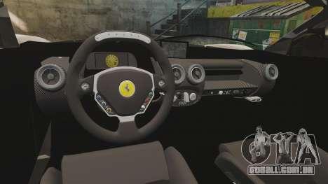 Ferrari LaFerrari v2.0 para GTA 4 vista interior