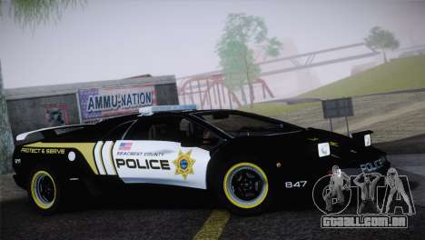 Lamborghini Diablo SV NFS HP Police Car para GTA San Andreas