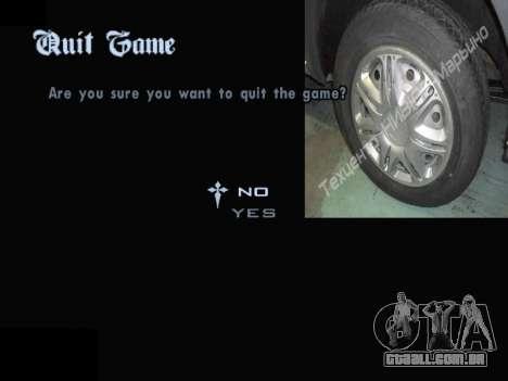 Menu De Automóveis Calotas para GTA San Andreas décima primeira imagem de tela