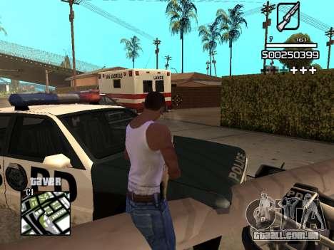 C-HUD By Kapo para GTA San Andreas nono tela