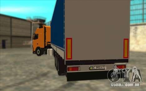Reboque KRONE para GTA San Andreas traseira esquerda vista