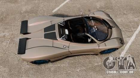 Pagani Zonda C12 S Roadster 2001 PJ1 para GTA 4 vista direita