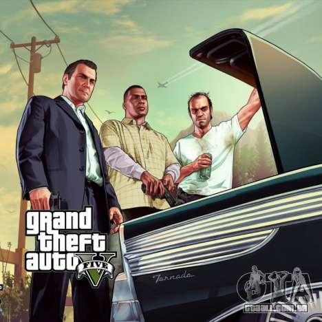 Tela de inicialização do GTA V para GTA San Andreas terceira tela