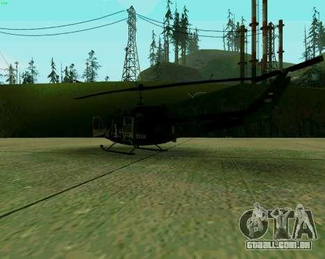 UH-1D Huey para GTA San Andreas vista direita