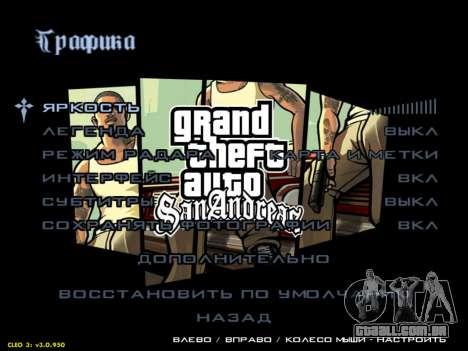 Menus HD V.2.0 para GTA San Andreas terceira tela