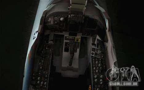 F-5E Tiger II para GTA San Andreas vista traseira