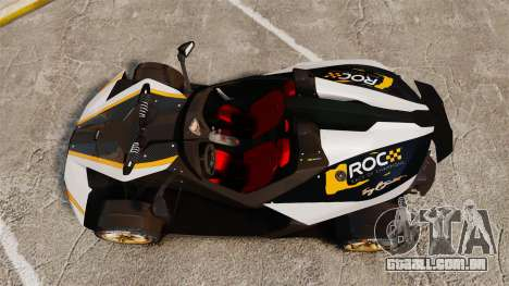 KTM X-Bow R [FINAL] para GTA 4 vista direita