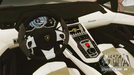 Lamborghini Aventador LP 700-4 Roadster [EPM] para GTA 4 vista interior