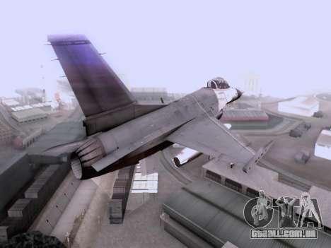 F-16 A para GTA San Andreas esquerda vista