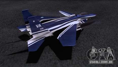 F-15S para GTA San Andreas esquerda vista