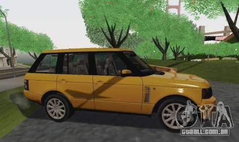 Range Rover Supercharged Series III para GTA San Andreas vista direita