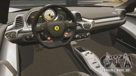 Ferrari 458 Spider para GTA 4 vista de volta