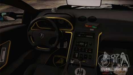 Lamborghini Diablo SV NFS HP Police Car para GTA San Andreas vista traseira