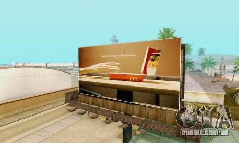 Novo de alta qualidade publicidade em cartazes para GTA San Andreas twelth tela