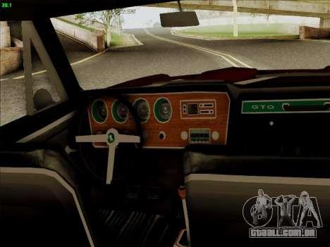 Pontiac GTO 1967 para GTA San Andreas vista traseira