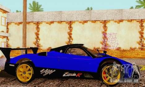 Pagani Zonda Type R Blue para GTA San Andreas vista direita