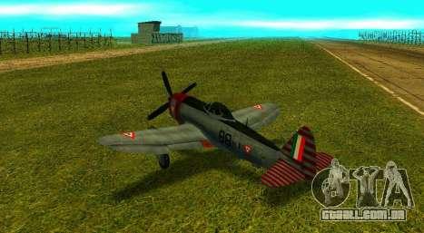 P-47 Thunderbolt para GTA San Andreas esquerda vista