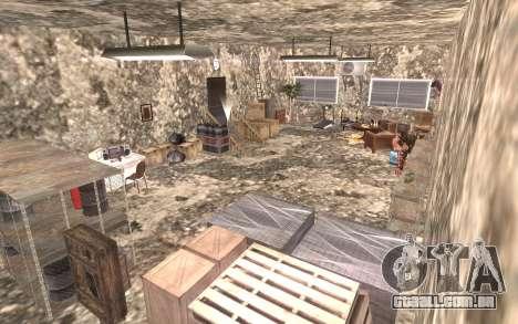 O porão da casa de Carl para GTA San Andreas por diante tela
