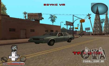 Belo C-HUD para GTA San Andreas por diante tela