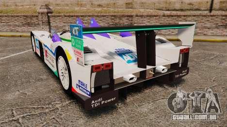 Audi R10 ADT 2008 para GTA 4 traseira esquerda vista