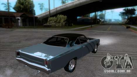 Plymouth Road RunneR 1969 para GTA San Andreas vista direita