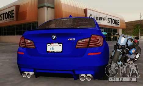 BMW F10 M5 2012 Stock para o motor de GTA San Andreas
