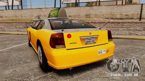 Bravado Buffalo Taxi para GTA 4 traseira esquerda vista