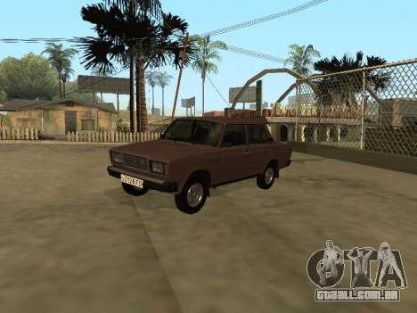 VAZ 2107 versão inicial para GTA San Andreas vista direita