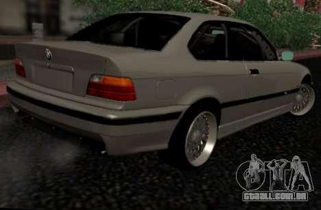 BMW M3 E36 Hellafail para GTA San Andreas traseira esquerda vista