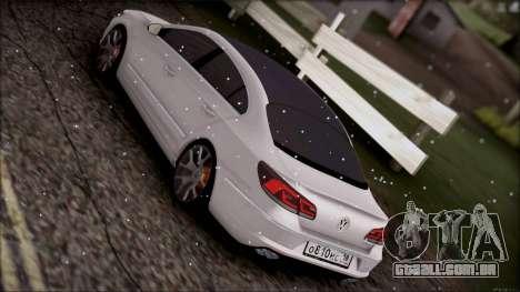 Volkswagen Passat CC para GTA San Andreas vista interior