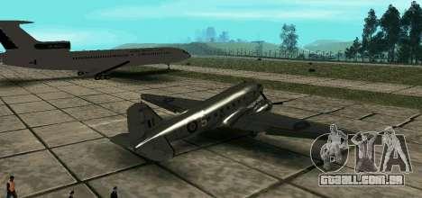 C-47 Dakota RAF para GTA San Andreas esquerda vista