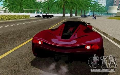 GTA 5 Grotti Turismo para GTA San Andreas traseira esquerda vista